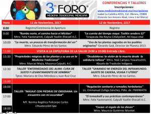 ConferenciasYTalleres MedTrad2017